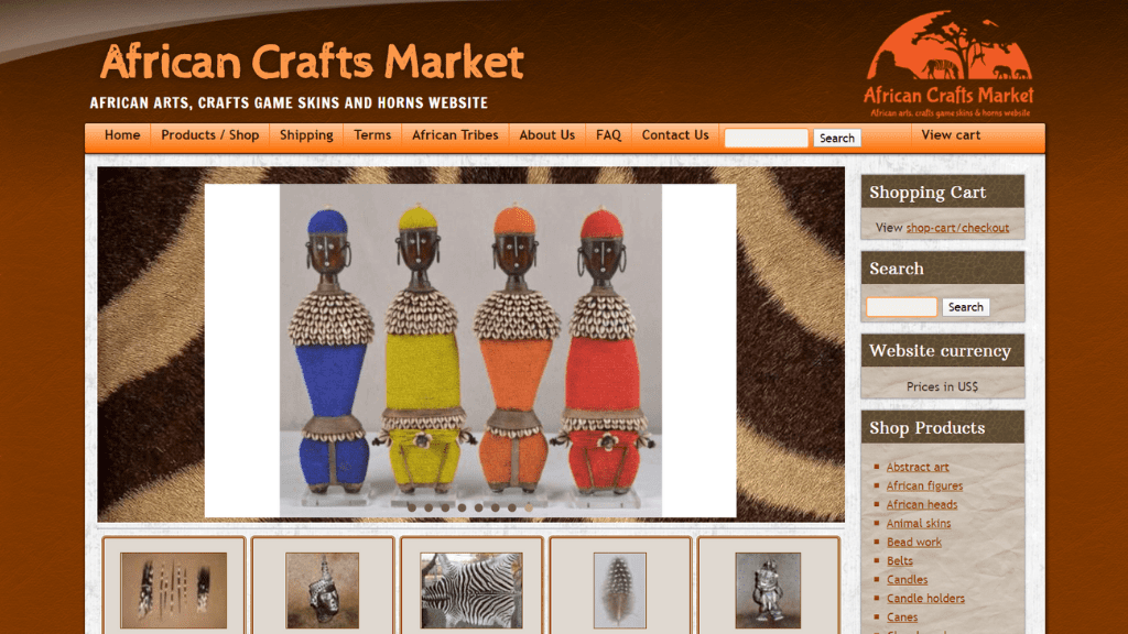 Kadealo, African Arts and Crafts Websites, African Crafts Market, South Africa