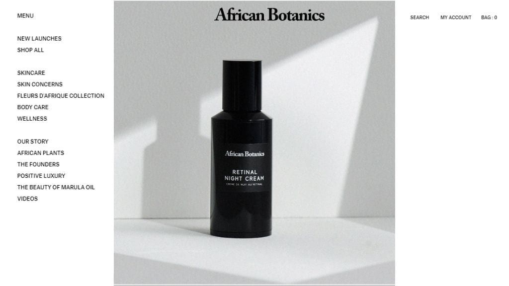 Kadealo, African Beauty Products Websites, African Botanics, South Africa