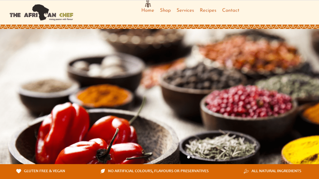 Kadealo, African Food and Condiments Websites, The African Chef, Zambia, UK