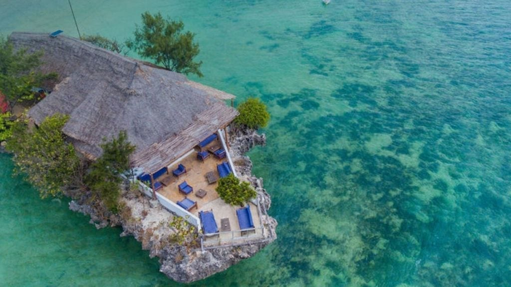 Kadealo, African Restaurants, On a Rock, Middle of the Ocean, Zanzibar