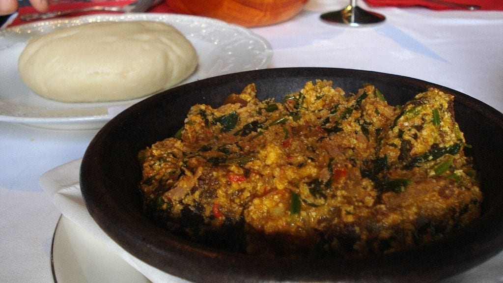 Kadealo, Mouth-Watering African Dishes, Pounded Yam and Egusi, Nigeria