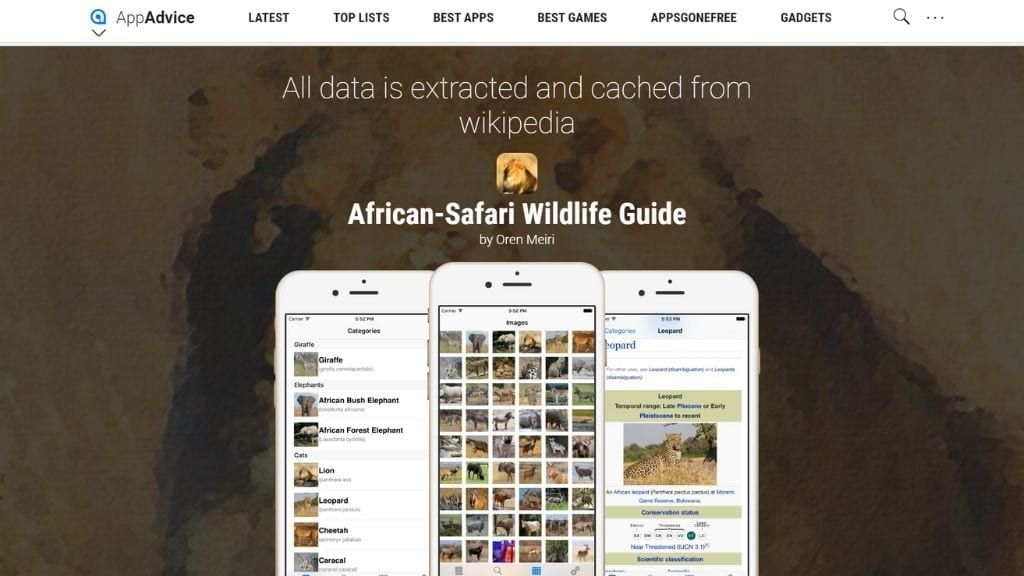 Kadealo, African Apps, African Safari Wildlife Guide