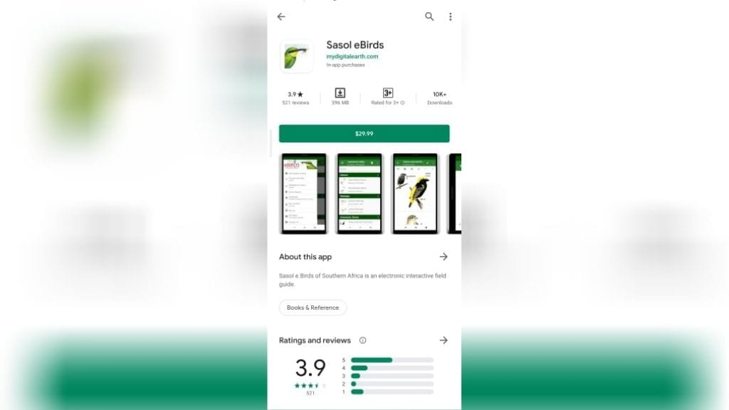 Kadealo, Essential Apps for Africa, Travel App for Africa, Sasol Southern Africa Bird Guide