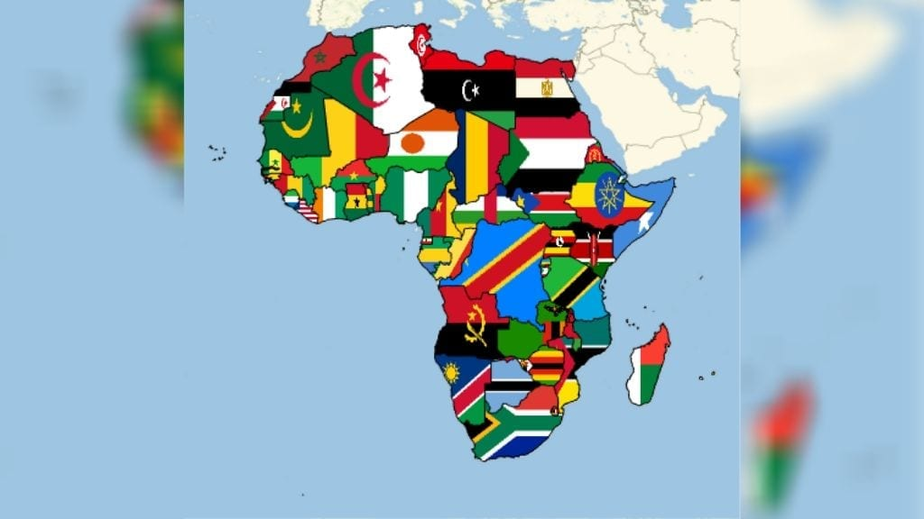 Kadealo, Maps of Africa, African Flags