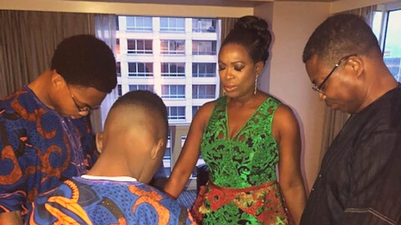 Sope Aluko and family at Black Panther premiere Collective Drift on Kadealo